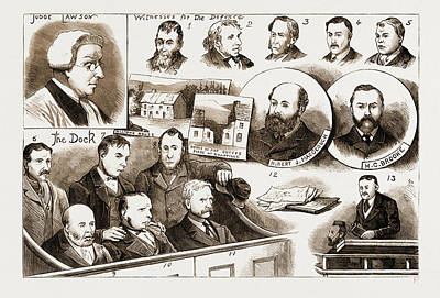 The Trial At Belfast Of Members Of The Irish Patriotic Print by Litz Collection