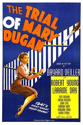 The Trial Of Mary Dugan, Us Poster Print by Everett