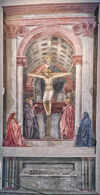 Photograph - The Trinity By Masaccio by Melany Sarafis