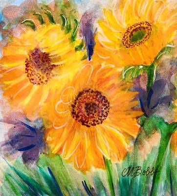 Get Well Soon Painting - The Trio by Margaret Bobb