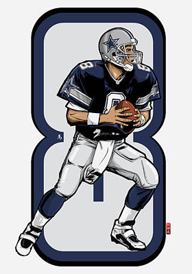 Troy Smith Digital Art - The Triplets Leader Qb 8 by Akyanyme