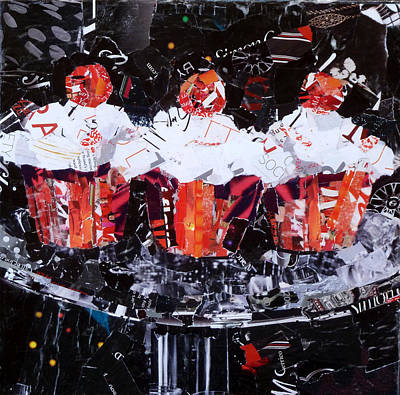 Cake Art Painting - The Triplets by Suzy Pal Powell