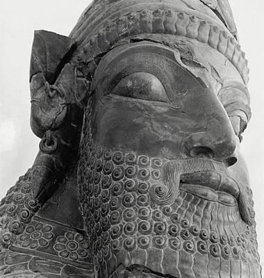 The Triplon Sculpture In Persepolis Art Print by Horst P. Horst
