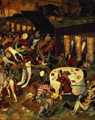 Coffin Painting - The Triumph Of Death, Detail Of The Lower Right Section, 1562  by Pieter the Elder Bruegel