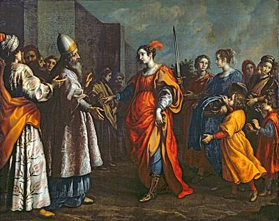 The Triumph Of Judith, C.1620-30 Oil On Canvas Art Print by Francesco Curradi
