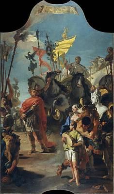 Giovanni Battista Tiepolo Painting - The Triumph Of Marius by Giovanni Battista Tiepolo