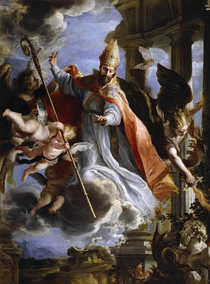 Of St. Augustine Painting - The Triumph Of St. Augustine by Claudio Coello