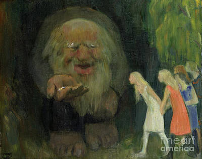 The Troll Lured The Girls With Gold Art Print
