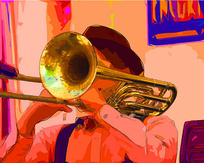 Photograph - The Trombonist by C H Apperson