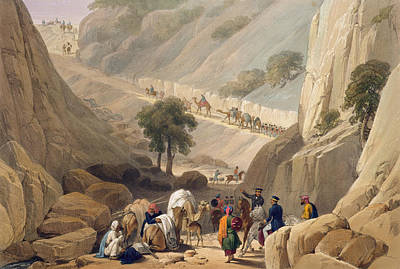 Marching Drawing - The Troops Emerging From The Narrow by James Atkinson