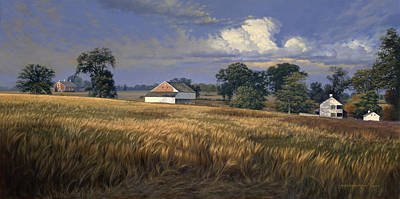 Pennsylvania Farm Painting - The Trostle Farm Gettysburg by David Henderson