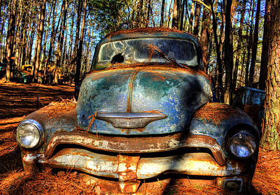 Old Photograph - The Truck In The Woods by Greg Mimbs