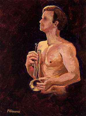 Trumpet Painting - The Trumpet by Mary Giacomini