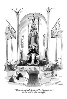 The Trustees Feel The Reverend Dr. Clapsattle Art Print