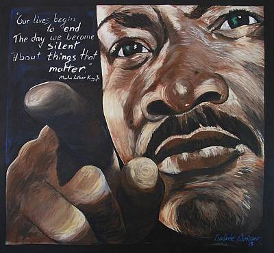 Dr. Martin Luther King Jr Painting - The Truth by Andree Weimer