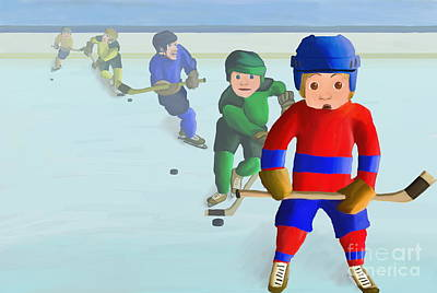 Kids Playing Hockey Digital Art - The Try Out by Tara  Ticehurst