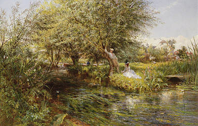 The Trysting Place Art Print by Charles James Lewis