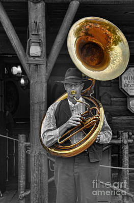 Saxophone Photograph - The Tuba Cowboy II by Lee Dos Santos