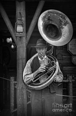 Sousaphone Photograph - The Tuba Cowboy by Lee Dos Santos