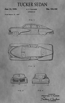 Mechanics Drawing - The Tucker Sedan by Dan Sproul