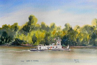 Painting - The Tug John A Yager by Todd Derr