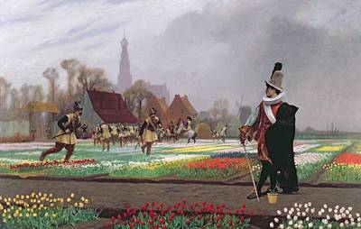 Field. Cloud Painting - The Tulip Folly by Jean Leon Gerome