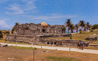 Photograph - The Tulum Palace by John M Bailey