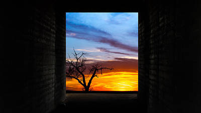 The Tunnel   Sunset1 Art Print