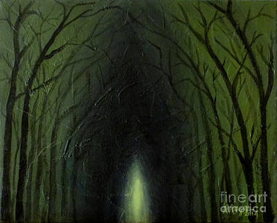 Painting - The Tunnel In The Trees by Amy Reges