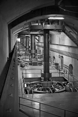 Underground Tour Photograph - The Turbine Room by Yousif Hadaya