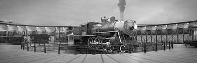 Transportation Royalty-Free and Rights-Managed Images - The Turntable and Roundhouse by Mike McGlothlen