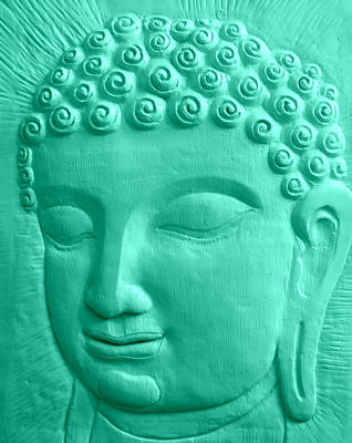 Gautama Photograph - The Turquoise Buddah by Karyn Robinson