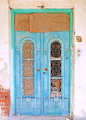 Photograph - The Turquoise Door by Ioanna Papanikolaou