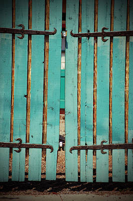 Photograph - The Turquoise Gate by Holly Blunkall