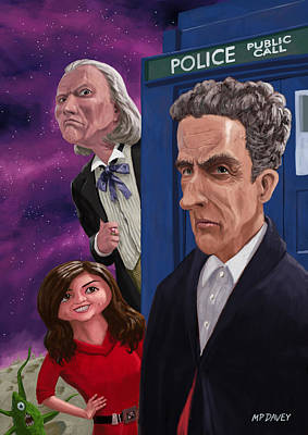 Tardis Painting - The Twelfth Doctor Who by Martin Davey