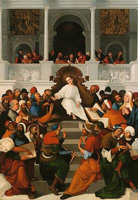 The Twelve-year Old Jesus Teaching In The Temple Art Print
