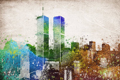 New York Digital Art - The Twins by Aged Pixel