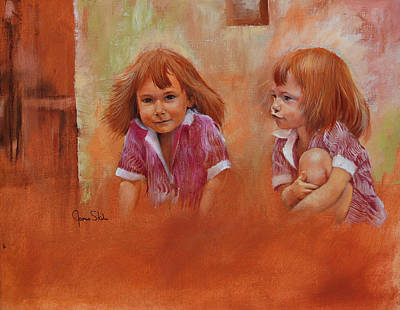 Painting - The Twins by James Skiles