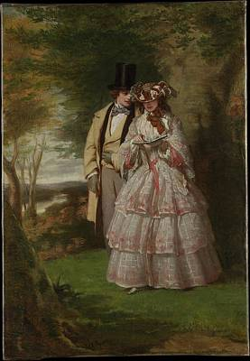 Frith Painting - The Two Central Figures In Derby Day by William Powell Frith