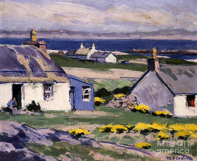 Scotland Painting - The Two Crofts by Francis Campbell Boileau Cadell