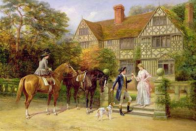 House Pet Painting - The Two Roses by Heywood Hardy