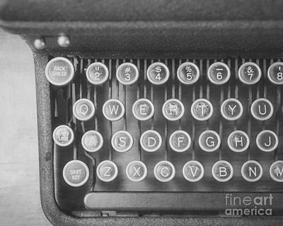 The Typewriter Art Print by Jillian Audrey Photography