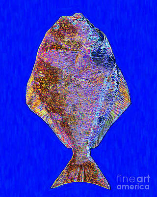 Trout Digital Art - The Ugly Fish 20130723di by Wingsdomain Art and Photography