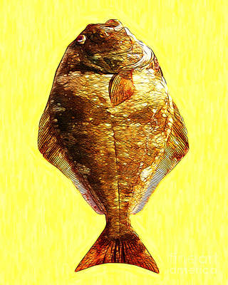 Trout Digital Art - The Ugly Fish 20130723mu by Wingsdomain Art and Photography