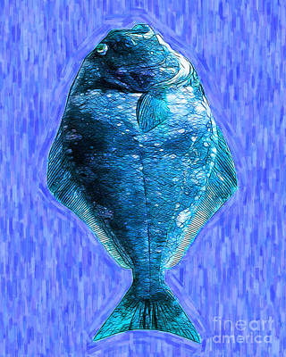 The Ugly Fish 20130723mup180 Print by Wingsdomain Art and Photography