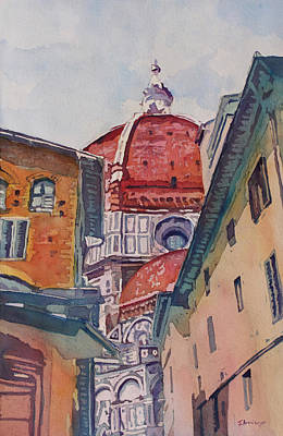 Duomo Painting - The Ultimate Alley View by Jenny Armitage