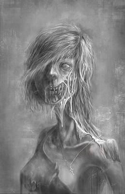 Zombie Digital Art - the Undead Beauty by Chok Bun  Lam