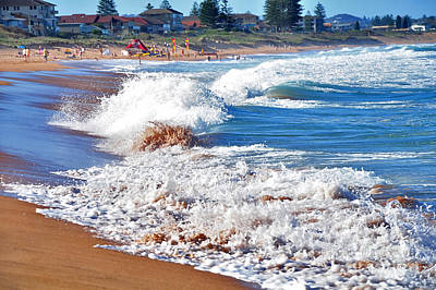 The Undefined Beauty Of Waves Art Print by Kaye Menner