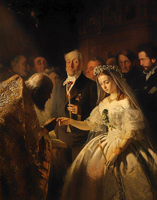 Bride And Groom Painting - The Unequal Marriage by Mountain Dreams