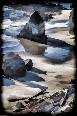 Photograph - The Unexplored Beach Painted by Mick Anderson